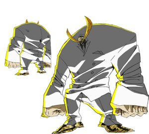 Laomoto Khan anime design