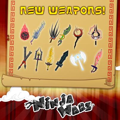 Ninja warz new weapons