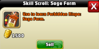 Skill Upgrade: Forbidden Skills