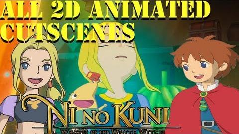 Ni No Kuni Wrath Of The White Witch D-Lux Animated Cutscenes ALL 2D CUTSCENE ENGLISH