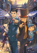 Professor Layton vs Ace Attorney promotional image