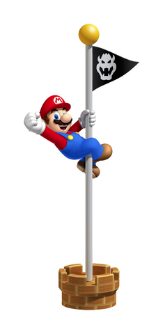 File:Mario Flagpole (Super Mario 3D Land).png