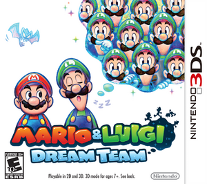 Mario & Luigi Dream Team box art