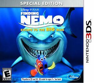 Finding Nemo Escape to the Big Blue box art