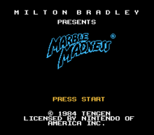 Marble Madness Title Screen
