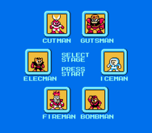 Mega Man Stage Select