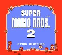 Super Mario Bros. 2 Title Screen