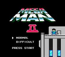 Mega Man 2 Title Screen