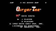 BurgerTime Title Screen