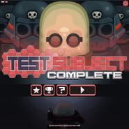 Test Subject Complete menu