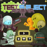 Test Subject Arena 2 menu