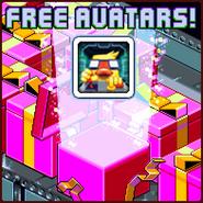 Nitrome Free Avatars advertisement (Gunbrick)