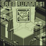 Nitrome Free Avatars advertisement (8bit Doves)