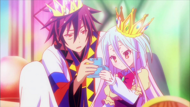 File:Shiro and Sora playing together after being crowned.png