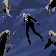 Ragar uses his speed against Frankenstein.