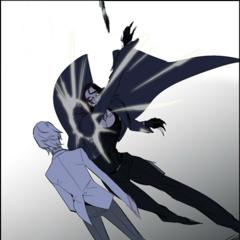 Regis easily deflects Shark's attack.