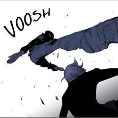 Yonsu attacks first.