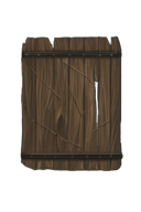 Discarded Wooden Shield