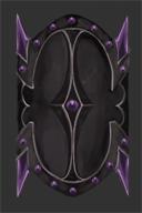 Amethyst Spiked Dragonbone Shield