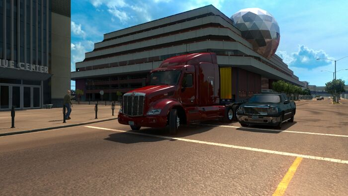 American Truck Simulator No Hud