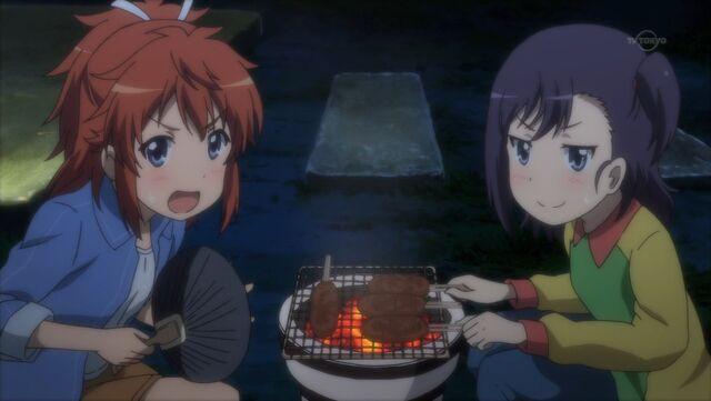 File:Natsumi and Hikage making Gohei Mochi.jpg
