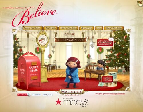 Macy's 2010 Believe Campaign Website