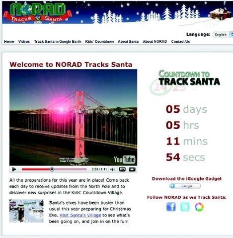 File:NORAD Tracks Santa - Homepage - Pre-Xmas - 2009.jpg