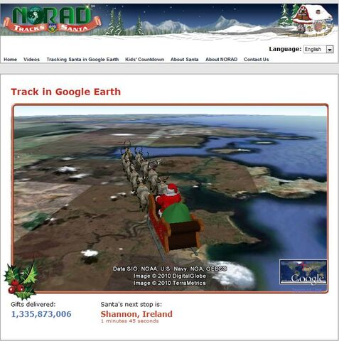 File:NORAD Tracks Santa - Google Earth - On Way to Delivery Point.jpg