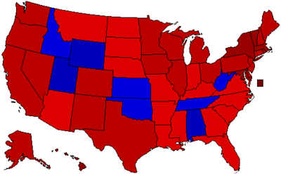 2072 Election by Percentage