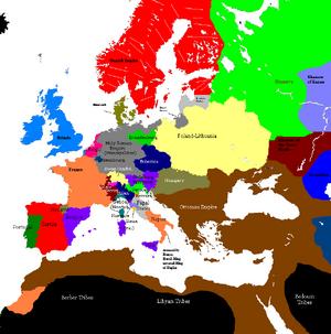 Europe 1430 35 map