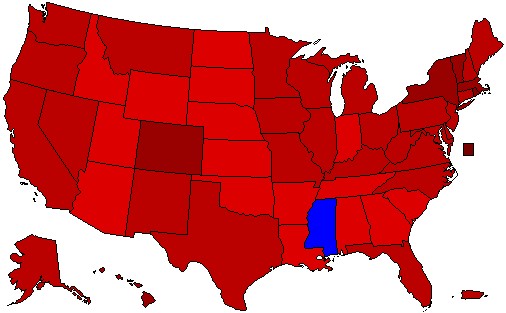 Election of 2064 by Popular Vote Percentage