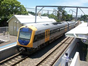 NSW TrainLink Hunter Railcar at Hamilton Station