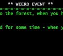 Weird Event