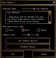 Gamemenu gameoptions