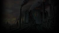 Oddworld Abe's Oddysee Background RuptureFarms original matte art
