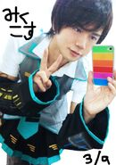 Shirofuku in miku outfit
