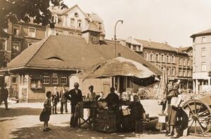 Der Wochenmarkt nach dem Krieg