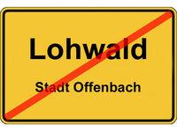 Altes Ortsausgangsschild Stadtteil Lohwald