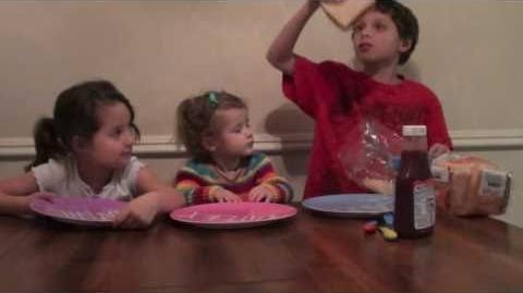 Hayley Learns How to Make a Peanut Butter and Jelly Sandwich-Cooking with a Two Year Old (Wk 3)