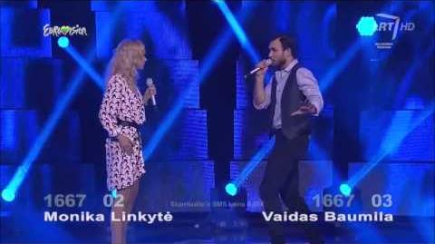 WINNER Vaidas Baumila & Monika Linkytė - This Time (Lithuania Eurovision 2015)