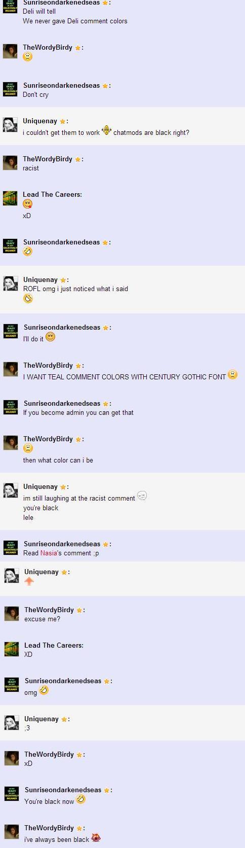 Racistcommentcolor