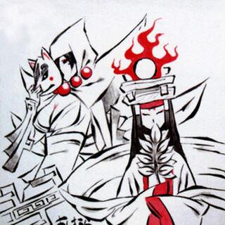 Evil Rao watching Queen Himiko.