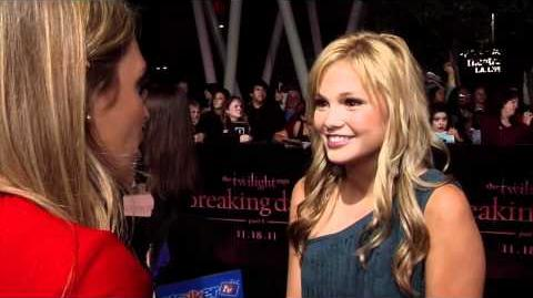 Olivia Holt Interview at the Twilight Breaking Dawn Interview