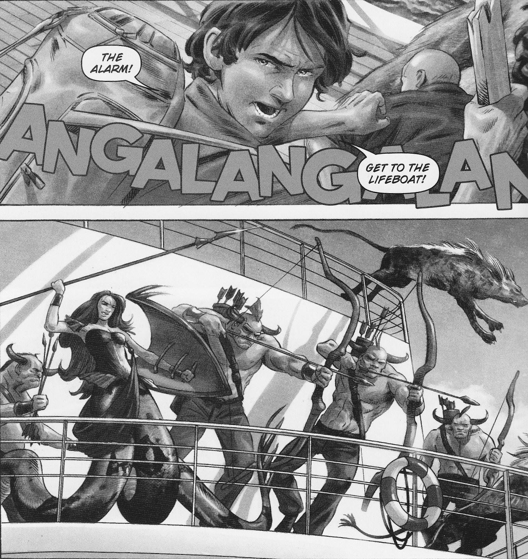 the sea of monsters graphic novel riordan wiki fandom powered