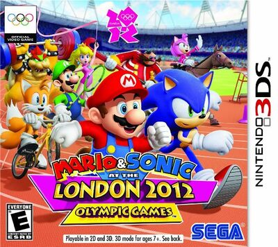 Mario sonic london 2012 olympic games boxart 3ds