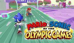 Mario and sonic logo