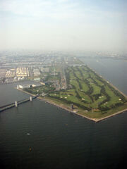 Wakasu seaside park aerial photo