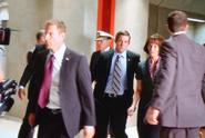 OHF- Lance Broadway, James Ingersoll, Aaron Eckhart, Melissa Leo and Cody Daniel filming on-set