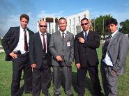 OHF- Steve Kim with Secret Service stuntmen