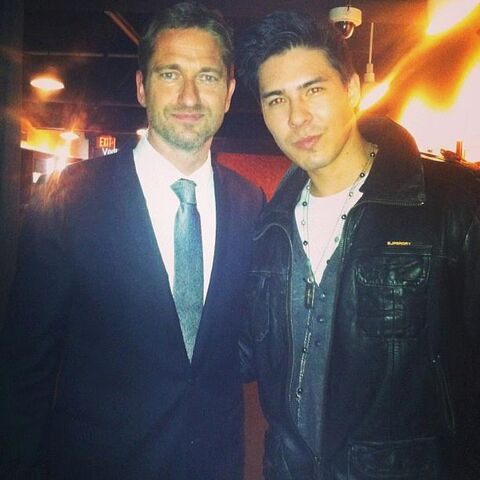 File:OHF- Lewis Tan and Gerard Butler at OHF opening premiere.jpg